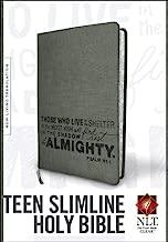 Teen Slimline Bible NLT (Red Letter, LeatherLike, Charcoal)
