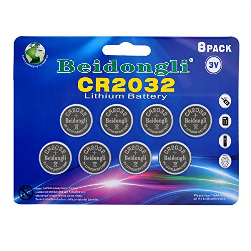 CR2032 3v Lithium Battery Button Coin Cell Battery for Watches calculators led Candles (8pack)