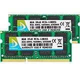 DUOMEIQI 16GB (2 x 8GB) Kit DDR3 / DDR3L 1600MHz SODIMM RAM PC3 / PC3L 12800S 2Rx8 1.35V /1.5V CL11 204 pines RAM sin ECC Memoria para computadora portátil sin búfer para sistemas Mac, Intel y AMD