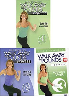 Leslie Sansone: Walk Away the Pounds Express - Walk Strong/3 Mile Abs/Super Challenge (3 pack)