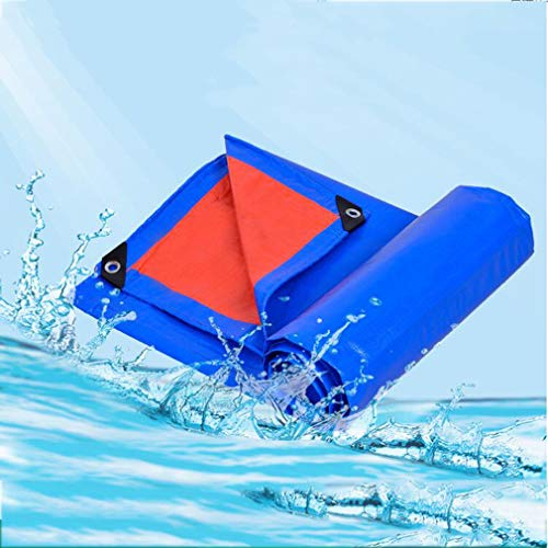 HCYTPL afdekzeil, licht, waterdicht, veelzijdig inzetbaar, regen- en zonbescherming, voor canopy tent, boot, vrijetijdsvoertuigen of zwembadafdekking, 140 g/m2