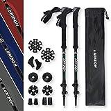LARIBON Trekking Poles, Nordic Walking Stick w/Flick Lock System, Adjustable Height to 55inches,...