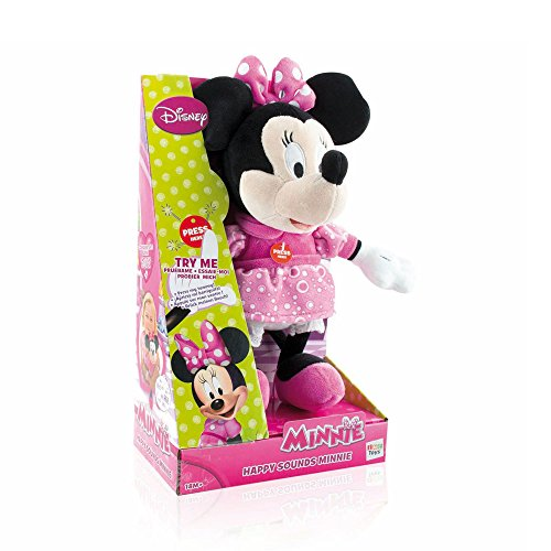 Disney – Minnie Mouse – Happy Sounds Minnie – Peluche Sonore Version Anglaise