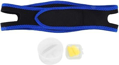 مجموعة أجهزة مضادة للشخير للنوم الليلي وتنقية الهواء سدادات الأذن حزام الذقن للعناية الصحية يوقف الشخير (أبيض)