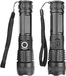 Lanterna Tática Militar LED Recarregável USB de Alto Brilho A Prova D'água para emergências, lanterna de acampamento, toch...