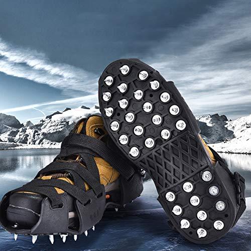 LANGWEI Traktionsklampen Eisschneegriffe, rutschfeste Steigeisen Mit 32 Stehbolzen Steigeisen Und Hochwertige Gummilaufsohle