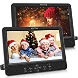 WONNIE 10.5' Dual Screen DVD Player Portable CD Players for Car with Two Mounting Bracket, 5-Hour Rechargeable Battery,...