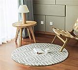 WJY Tapis Rond Canapé Salon Chambre Etude Hall D'entrée Moquette Table D'ordinateur Vestiaire Tapis De Salle De Bains (Color : KF03, Size : 200CM.)