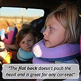 BCOZZY Kinder Nacken und Kinn stützendes Reisekissen - unterstützt den Kopf, Hals und das Kinn. Ein Patentiertes Produkt. Kindergröße, MARINEBLAU - 6
