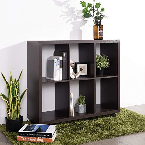 FurnitureR Estantería de Madera con 6 Cubos y estantes Abiertos, Unidad de Almacenamiento de estantería…