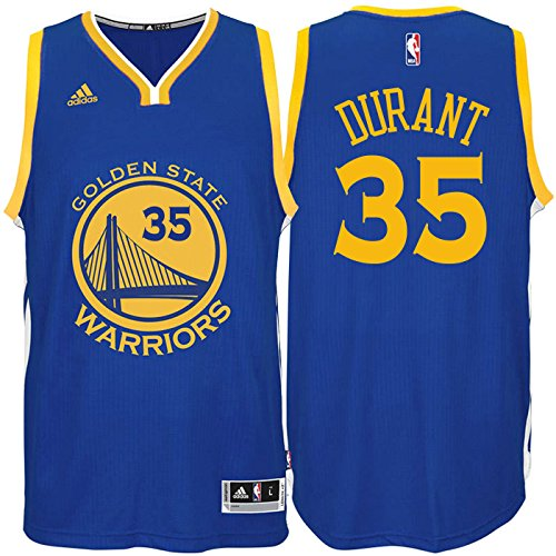 Kevin Durant Golden State Warriors #35 Blue Youth Road Swingman Jersey (Large 14/16)