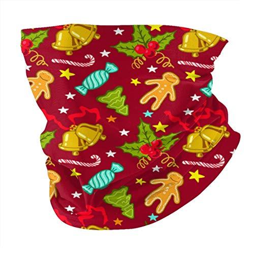 ZVEZVI Navidad patrón sin costuras variedad pañuelo para la cabeza pasamontañas antipolvo multifuncional pañuelos para deportes al aire libre
