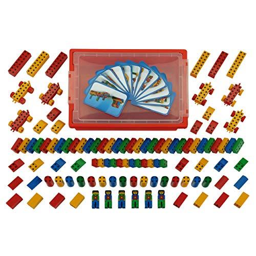 Theo Klein 0136 - Manetico Aufbewahrungs-Box, 104 Teile, Spielzeug
