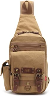 Mens Bag New Chest Bag Men's Canvas Bag Intimate Cross-body Bag Travel Carrying Case High capacity