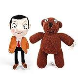 Qylfsxb Peluche 2 Pz/Lotto 25-30 Cm Mr Bean & Teddy Bear Peluche Peluche Mr.Bean Giocattoli Bambola Animali Morbidi Giocattolo per Bambini Regali Regalo dei Bambini