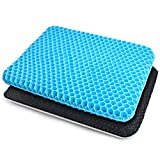 Dprofy Gel Seat Cushion - Gel Seat Cushion for Long Sitting, Double Layer Breathable...