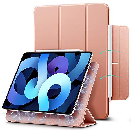 ESR Magnetische Hülle kompatibel mit iPad Air 10.9 2020(4.Generation) & iPad Pro 11 2018 [Praktische Magnetbefestigung] [Trifold Smart Hülle] Rebo&-Serie, Roségold.