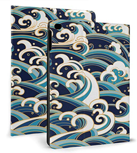 Nautical Traditional Oriental Style Case for Ipad Air 1/2 9.7 Inch 2018/2017,Adjustable Stand Auto Wake Or Sleep Smart Case for Ipad 6th Or 5th Gen