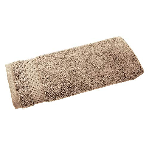 Price comparison product image iDesign Hand Towel,  Small Embellished Hair Towel Made of 100 Percent Cotton,  Soft Face Cloth for Face and Hands or for Shower and Bath,  Beige