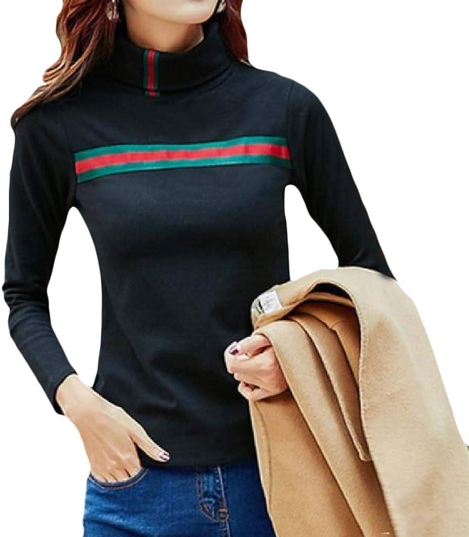 YUNY Womens Plus Size Fall Winter Blouse Fleece Long Sleeve Thick Tees Black