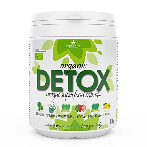 6in1 DETOX SUPERFOOD MIX 300g | Zertifiziert aus biologischem Anbau, Chlorella, Spirulina,...