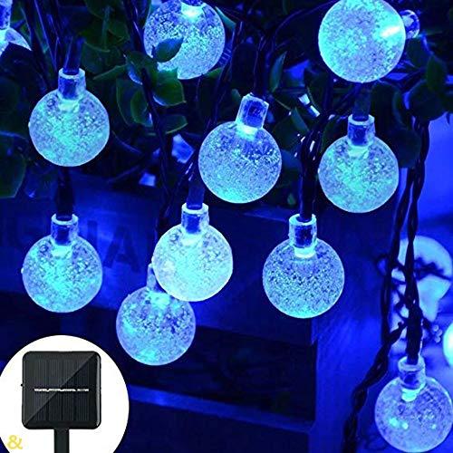 Homejuan Solar-lichtbol, 6,5 m, 30 leds, lantaarn, decoratief, voor tuin, kerst, licht voor buiten, waterdicht