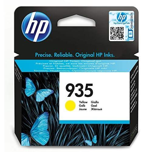HP 935 (C2P22AE) Cartuccia Originale per Stampanti HP a Getto di Inchiostro, Compatibile con HP OfficeJet 6820; OfficeJet Pro 6230 e 6830, Giallo