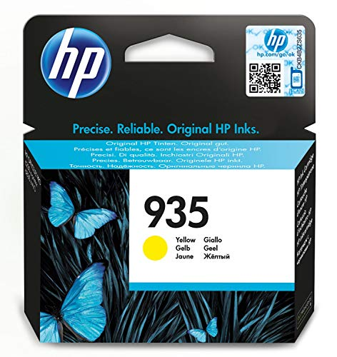 HP 935 (C2P22AE) Cartuccia Originale per Stampanti HP a Getto di Inchiostro, Compatibile con HP OfficeJet 6820; OfficeJet Pro 6230 e 6830, Giallo