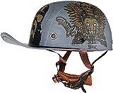 Casco retro Capucha Motocicleta Medio casco para adulto, moda gorra de béisbol Casco abierto Casco Casco Certificado Cruiser Motorbike Safe Protect Casco (60-63 cm) ( Color : B , tamaño : Large )
