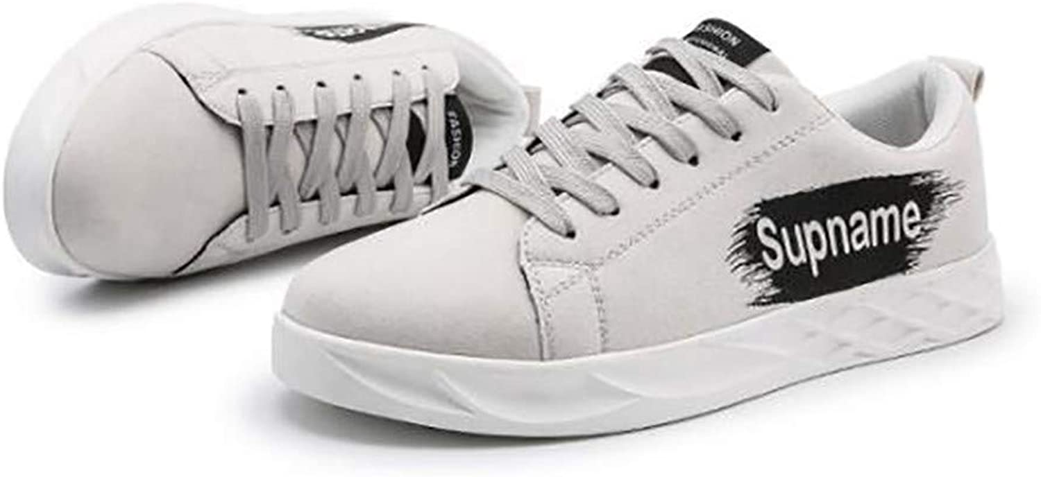 LIGYM Men's casual shoes, breathable white shoes