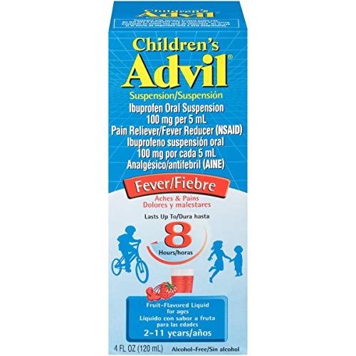 Children's Advil Liquid Pain Relief Medicine and Fever Reducer, 100 Mg Children's Ibuprofen for Ages 2-11, Fruit - 4 Fl Oz