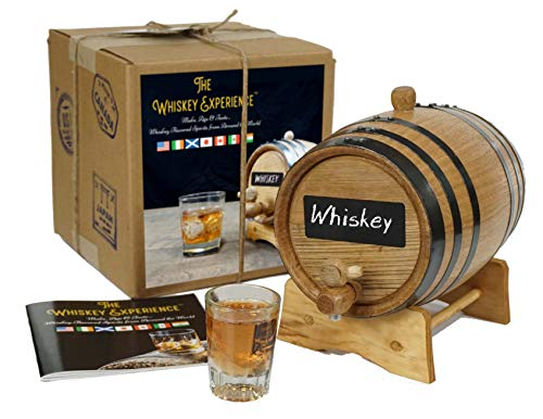 The Whiskey Experience - Premium Whiskey Making Kit | Make, Age & Taste Whiskies from Around the World | Single Malt Scotch, Irish, Japanese Whisky & Single Barrel Bourbon | 2 Liter Oak Aging Barrel