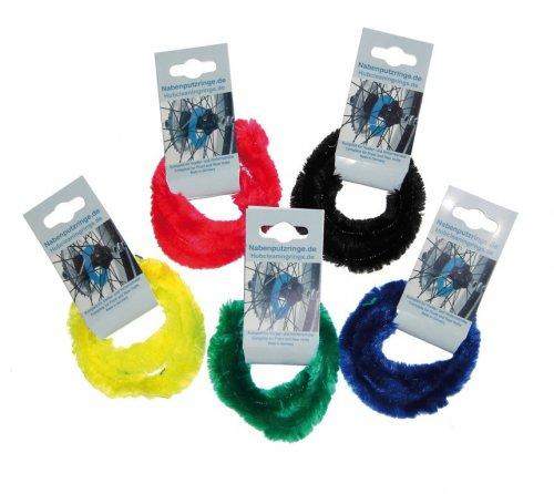 Perlon-Nabenputzringe farblich sortiert Paar für 7-Gang-Nabe, einzelverblistert
