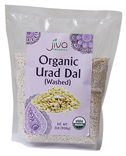 Jiva USDA Organics Urad Dal (Split Matpe Beans) 2 Pound - NEW Packaging!
