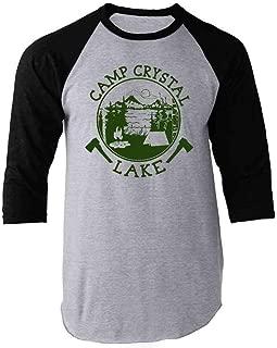 Camp Crystal Lake Counselor T Shirt Horror Costume Raglan Baseball Tee Shirt