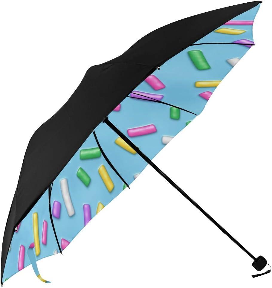 Best Sun Quantity limited Umbrella Pink Donut Underside Sprinkles Bombing new work Printing Glaze