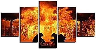 Impressions Sur Toile Peinture Sur Toile Ornement Peinture Cinq Peinture Consécutive Peinture Décorative Pompier