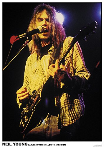 Neil Young Poster LIVE at Hammersmith Odeon London 1976