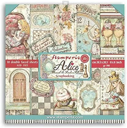 for Alice Through Looking 2021 autumn and winter new Glass 8X8 Paper DS Ranking TOP17 pcs+Bo Scrapbook 10