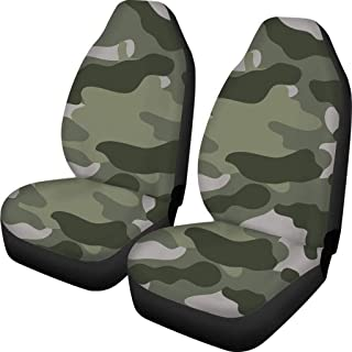 LIMING Set of 2 Front Car Seat Covers Universal Fit 15/15 Protector Elastics Case Bag Camouflags Pattern Cushion Cover SUV...