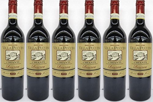 6 x VILLA PUCCINI CHIANTI RISERVA ITALIEN 12,5% 0,75L Incl. Goodie von Flensburger Handel
