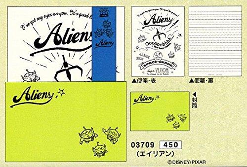 FEEL LETTER / ディズニー A5 レターセット (03709_トイストーリー エイリアン)