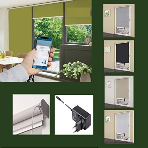 generisch erfal SmartControl Rollo Powered by Homematic IP - intergr. Akku - inkl. Homematic IP Access Point - Thermo-Verdunkelung - 'Weiss (120 x 160 cm)
