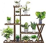 ybaymy 5 niveles – Estantería para plantas interior, estantería para flores, estantería de madera para interior balcón salón exterior jardín decoración 95 x 95 x 25 cm