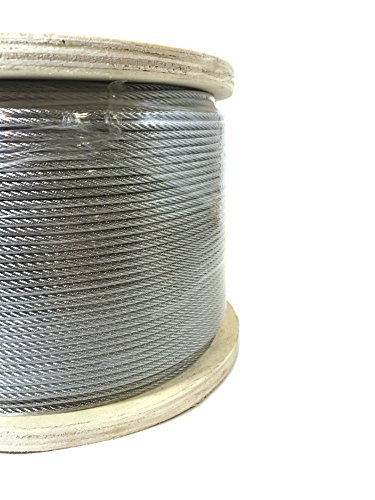 1/8' 7x7 Stainless Steel Cable Type 316 Marine Grade 1000ft Reel