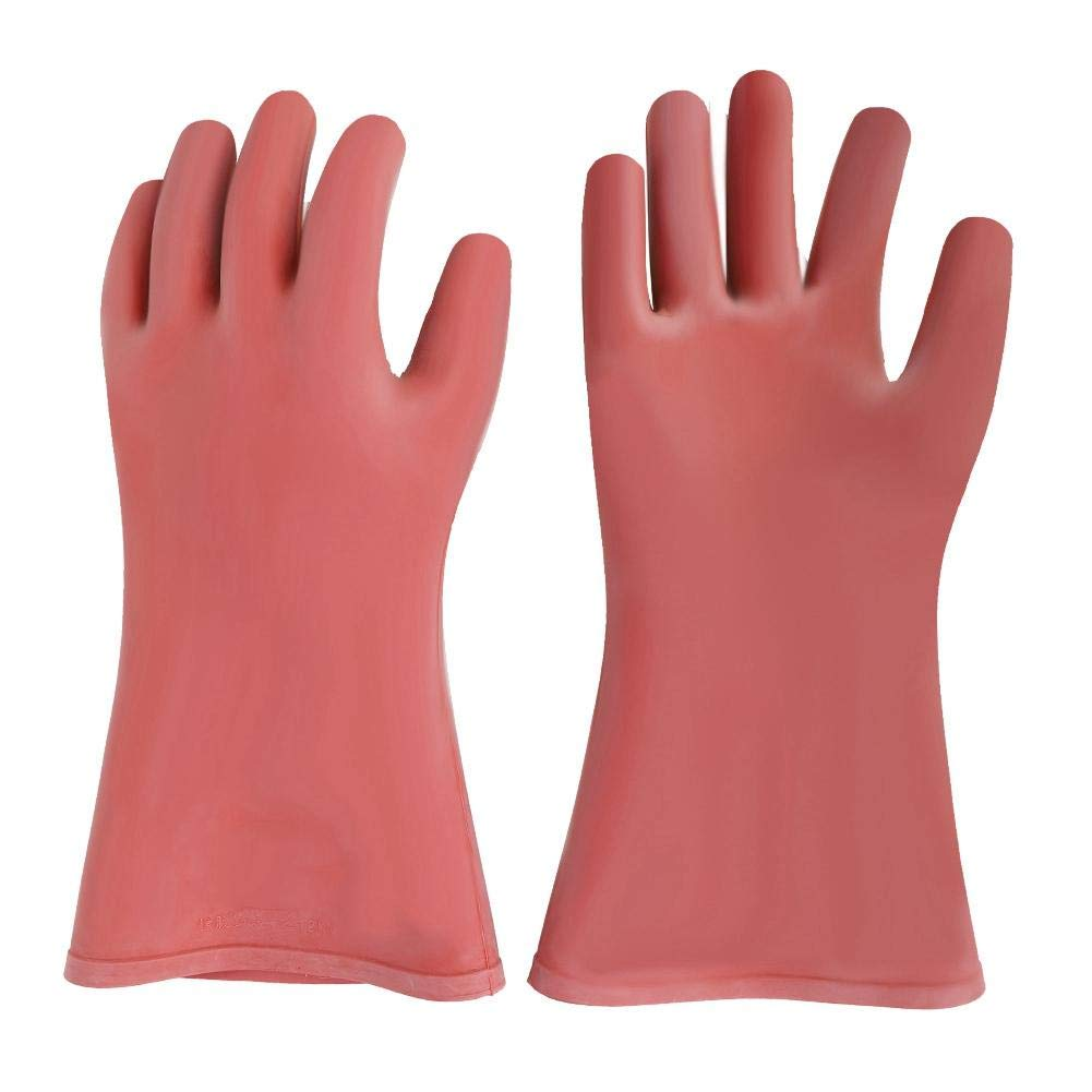 12KV Electrical Insulated Rubber Gloves,Safety Electrical Protective Work  Gloves for Electricians : Amazon.in