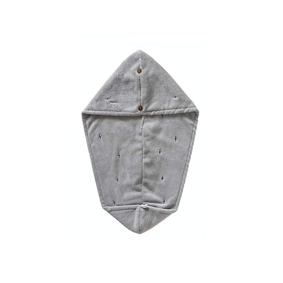 空思春期傾向XIONGHAIZI シャワーキャップ、二層吸収性ソフトドライヘアキャップ、乾いたタオル、タオル、高品質 (Color : Gray)