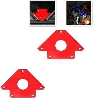 2-Piece Magnetic Welding Holder, Strength Strong Weld Magnet, Corner Magnet, for Holder and Positioner in Welding, Soldering