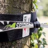 Spider Slackline-Set, 50m lang, 2,5 cm breit + Baumschutz - 11