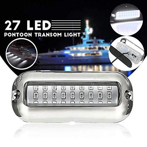 Fansport 27 LED Luces Barco Lámpara De Navegación, Inoxidable Barras De Luz Lampara Subacuatica para Barco Luces a Prueba De Agua(Weiß